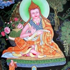 Asanga, Tibetan thangka