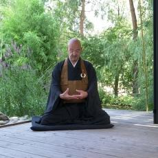 Mahāyāna Monk meditating